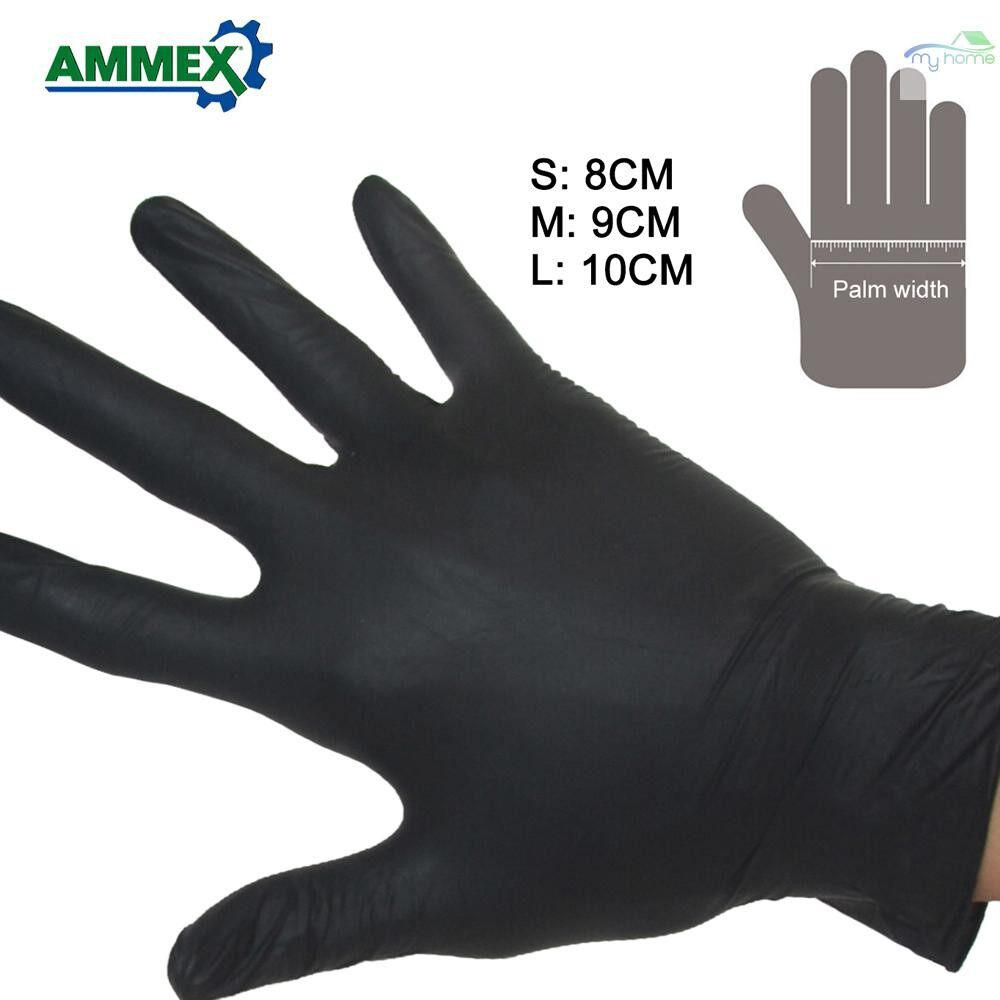 Protective Clothing & Equipment - 100 PIECE(s) Disposable Gloves Oil Acid Resistant Nitrile Rubber Gloves For Home Food Laboratory - L / M / S