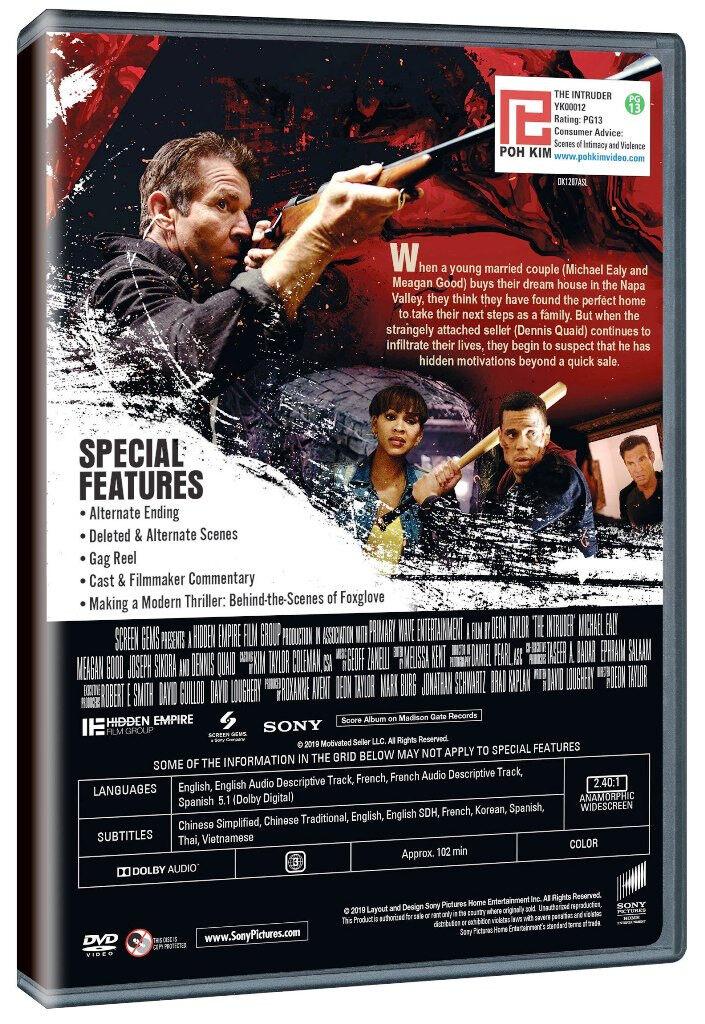 English Movie The Intruder DVD Dennis Quaid
