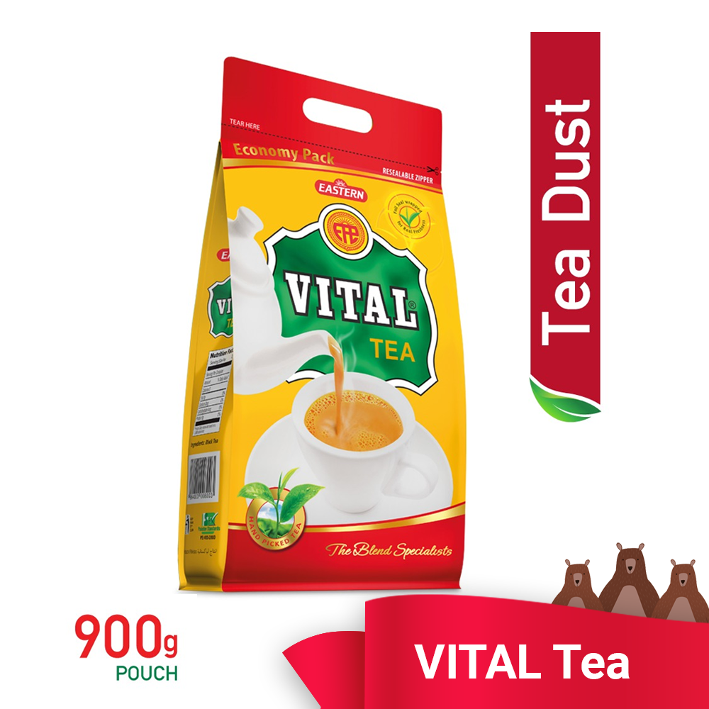 Vital Tea Zipper Pouch 900g - TEA DUST READY STOCK KL - AFFORDABLE - HALAL - ECONOMY PACK -FAST SHIPPING