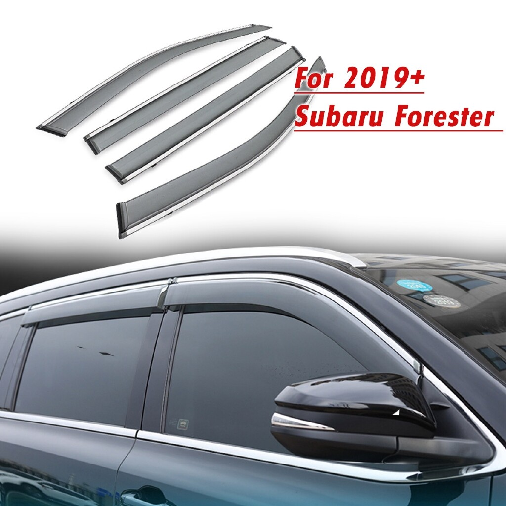 Car Lights - 4 PIECE(s) Window Visors Side Window Visor Rain Sun Deflectors Guard Vent Shade For Subaru Forester - Replacement Parts
