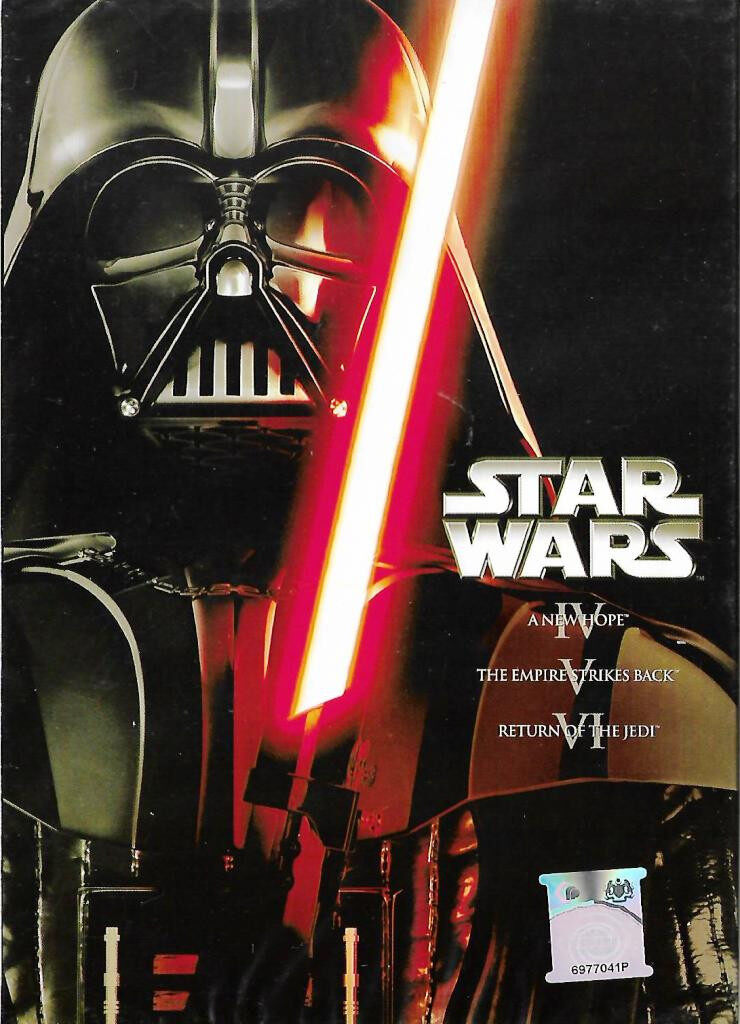 English Movie Star Wars Episode IV-VI - A New Hope / The Empire Strikes Back / Return of The Jedi DVD