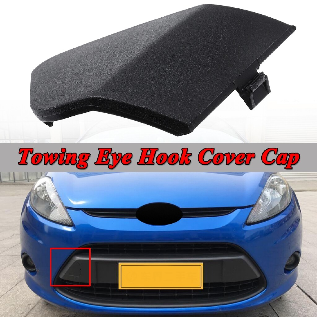 Automotive Tools & Equipment - BLACK FRONT BUMPER TOW TOWING EYE HOOK COVER CAP FOR FORD FIESTA MK7 2008-2016 - Car Replacement Parts