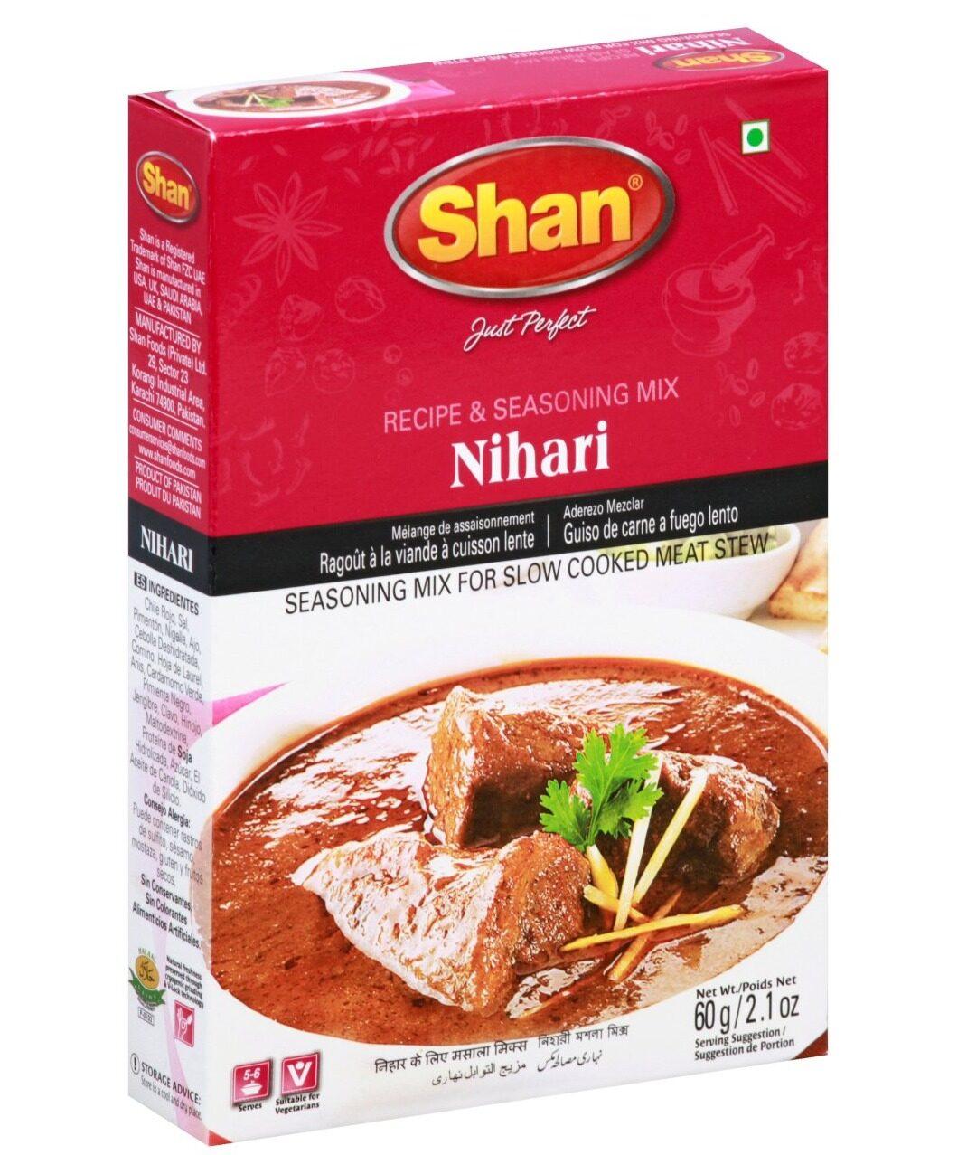 SHAN NIHARI CURRY MIX MASALA 60 GM