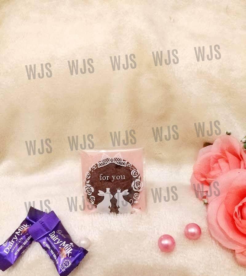 (MULTIPLE SIZES) WJS 100pcs 100 pcs Cute Rabbit Just For You Kuih Raya Wrapper