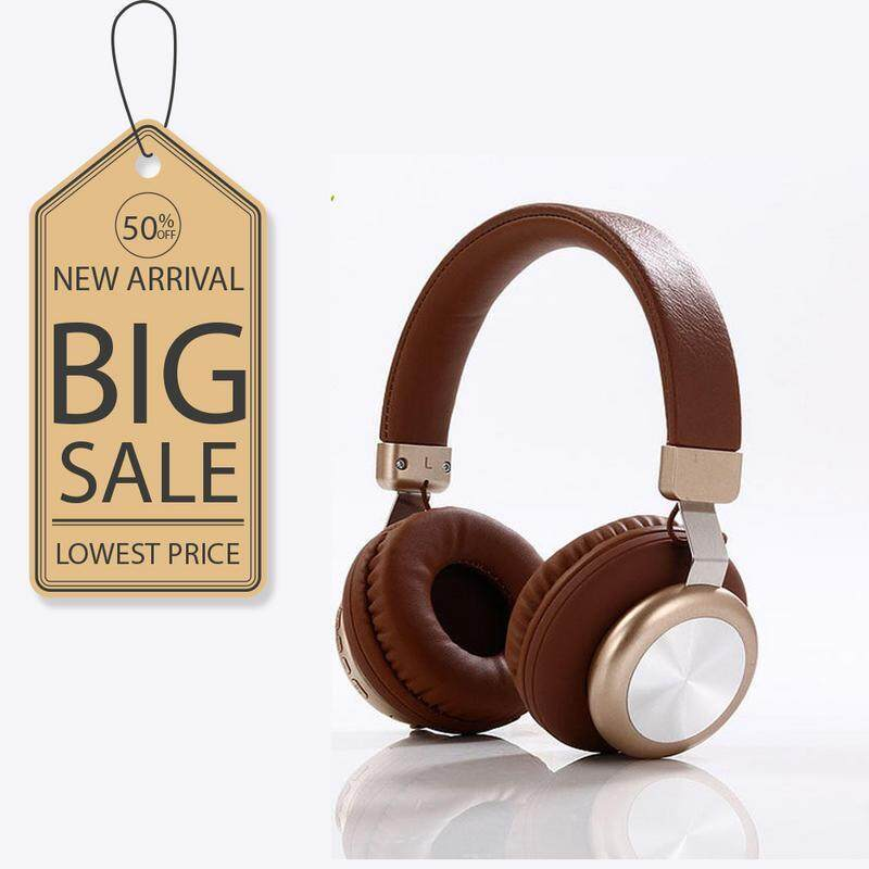 SY-BT1616 Stereo Sports Subwoofer Headset TF Card Wireless Bluetooth Headset BROWN