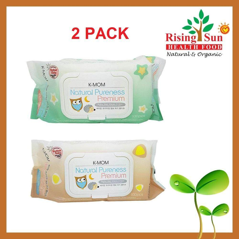 K-Mom Naturefree Premium Baby Wet Wipes with Lid 100pcs (2pack)