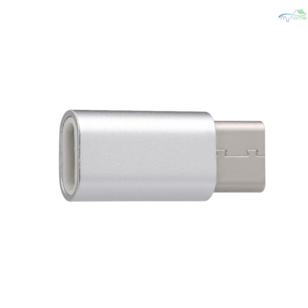 Mobile Cable & Chargers - MicroUSB To Type-C USB Adapter Converter for Huawei Xiaomi Sumsung for MacBook Tablets Laptops - SILVER / BLACK