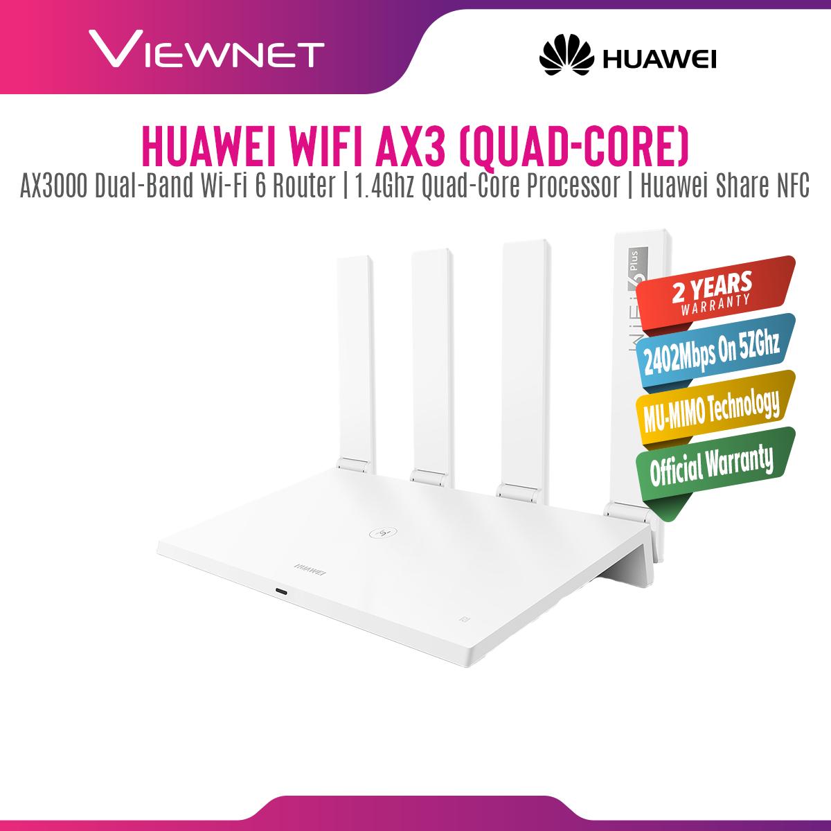 [LOCAL SET] Huawei Wi-Fi AX3 (Quad-Core) AX3000 WiFi 6+ Plus AX Wireless Router Support Huawei HiLink Mesh WiFi & NFC