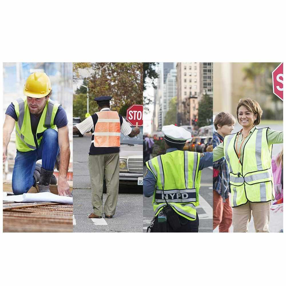 Best Selling SFVest High Visibility Reflective Safety Vest Workwear Working Clothes Reflective Vest Security Clothing Day Night Motorcycle Cycling Warning Safety Waistcoat (Yellow)