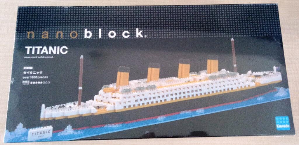 Imported Original Ready Stock - Nano Block Titanic 1912 Micro-Sized Building Block 1800+ Pieces Kawada