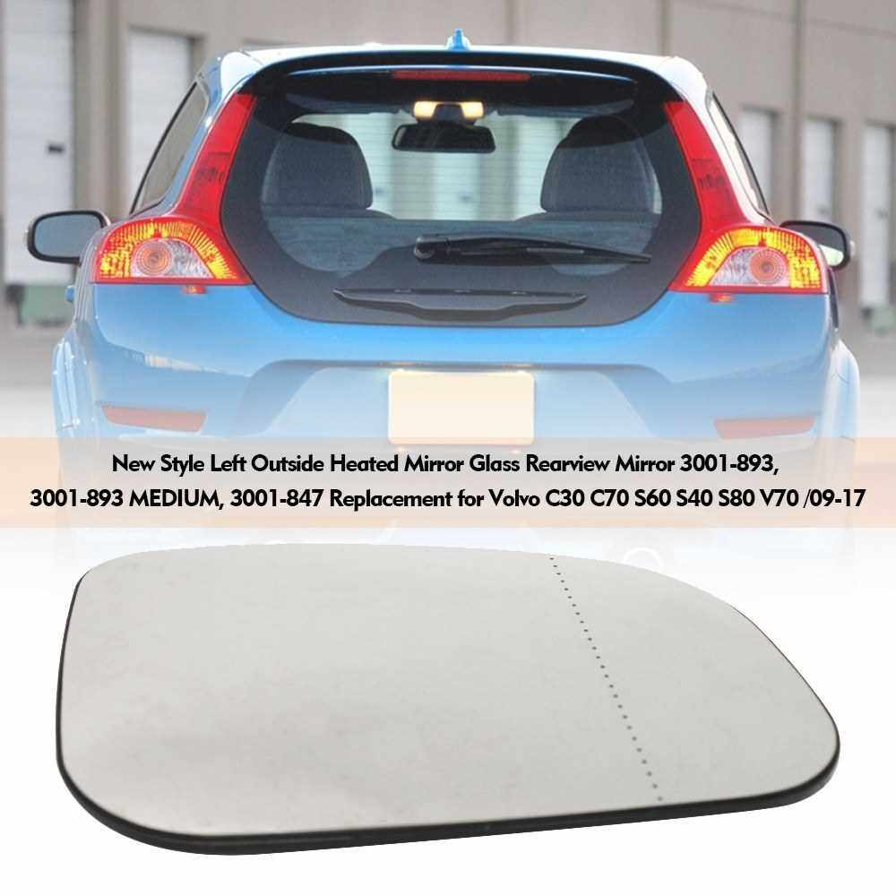 Best Selling New Style Right Outside Heated Mirror Glass Rearview Mirror 3001-893, 3001-893 MEDIUM, 3001-847 Replacement for Volvo C30 C70 S60 S40 S80 V70 /09-17 (Transparent)