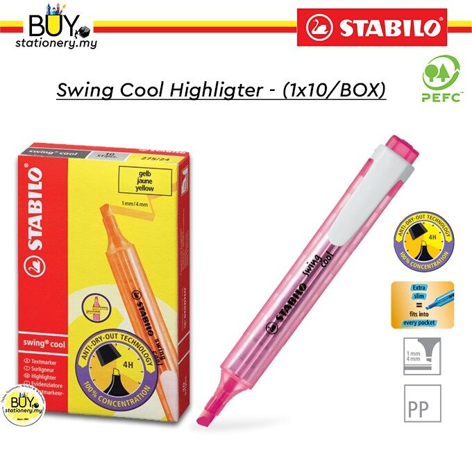 Stabilo Cool Highlighter - (1x10/BOX)