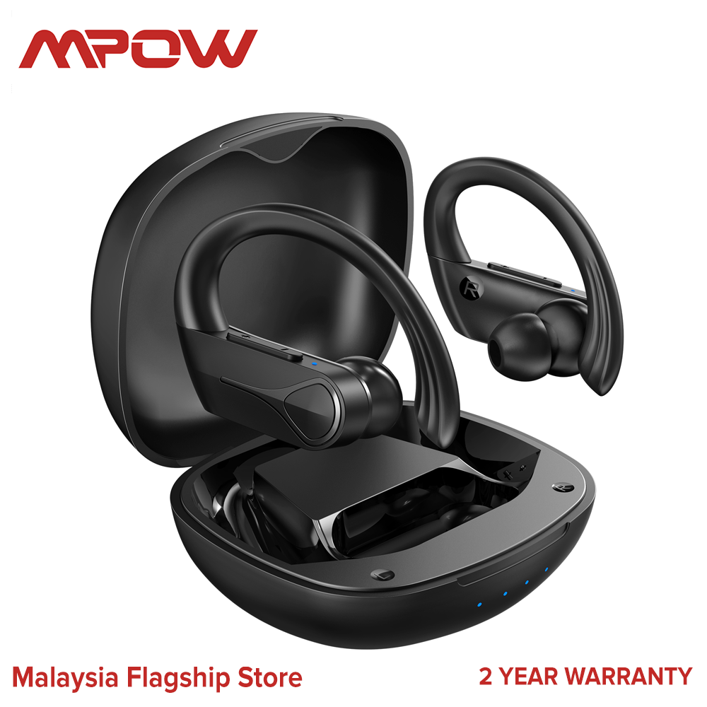 Mpow Flame Solo Bluetooth Earbuds,Wireless Earbuds Sports, Bass+ in Ear Wireless Earphones Bluetooth Headphones with Mic Earphones, Fast Charging/USB-C/28H Playtime/IPX7 Waterproof for Running Sports