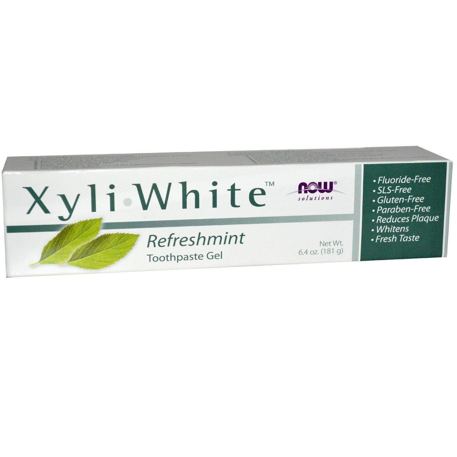 Now Foods Toothpaste, Solutions Xyli White, Refreshmint (181g)