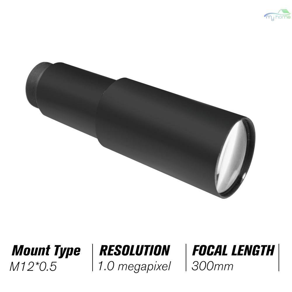 CCTV Security Cameras - HD 1.0 Megapixel 300mm CCTV MTV Board Lens 1/3 Image Sensor Long Viewing Distance M12P0.5 Mount - BLACK