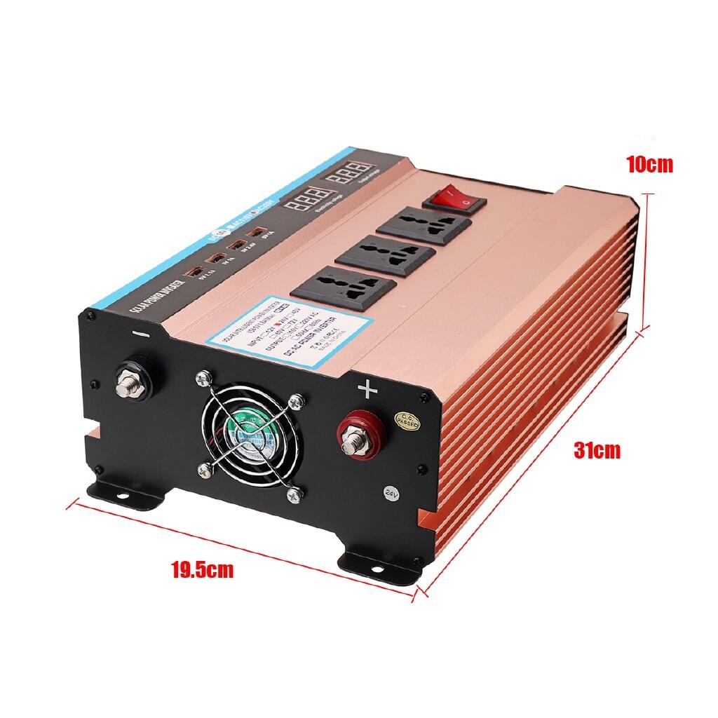 Plugs & Adapters - 10000W Car Modified Sine Wave Inverter DC12/24V to AC220V Converter Solar Power - 24~220V / 12~220V