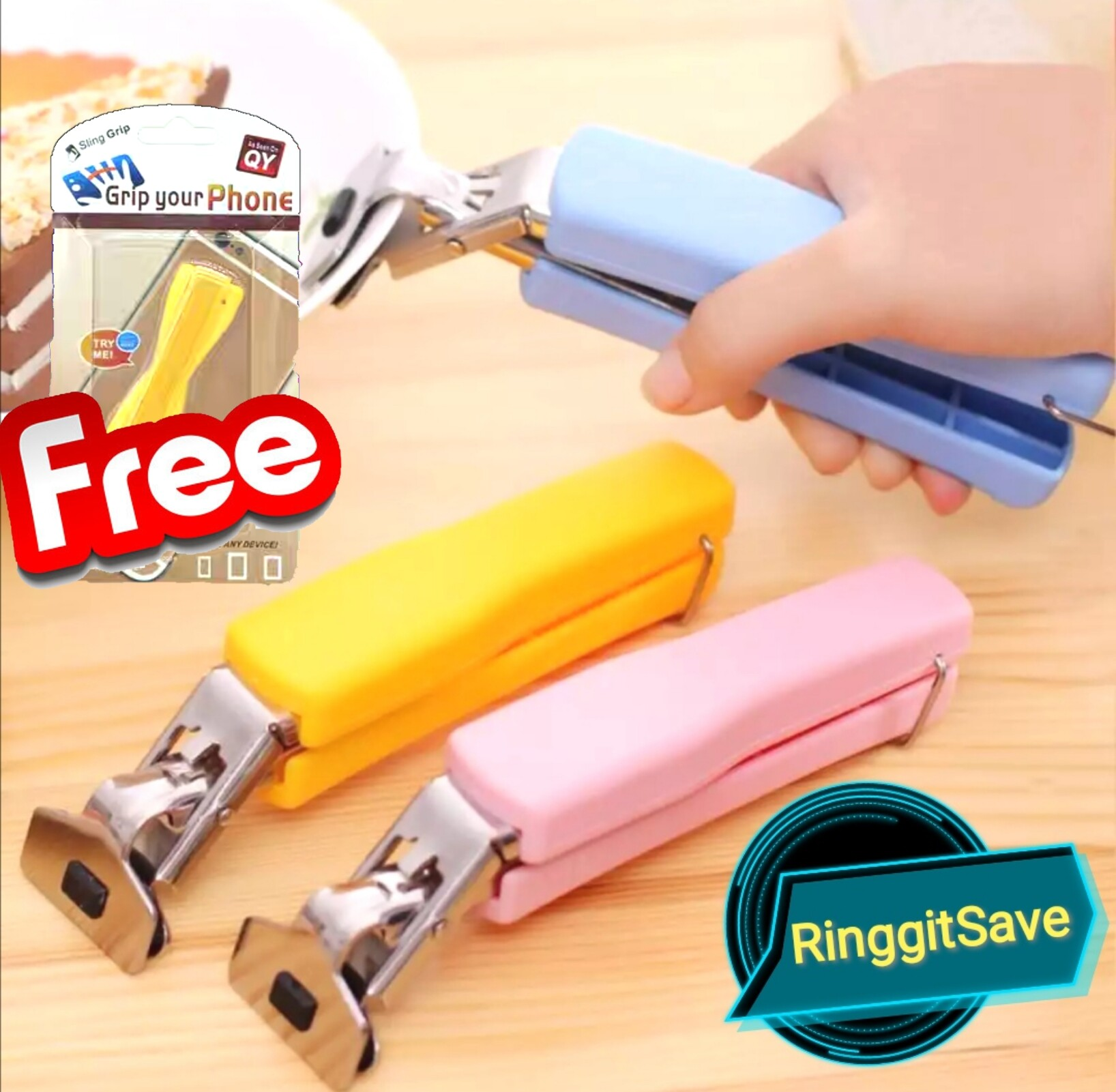 (Ready Stock)Multifunction Stainless Steel Bowl Clip Food Clipper Universal Handheld Plate Holder Cute Microfiber Oven Kitchen Tool Clamps With Free Gift