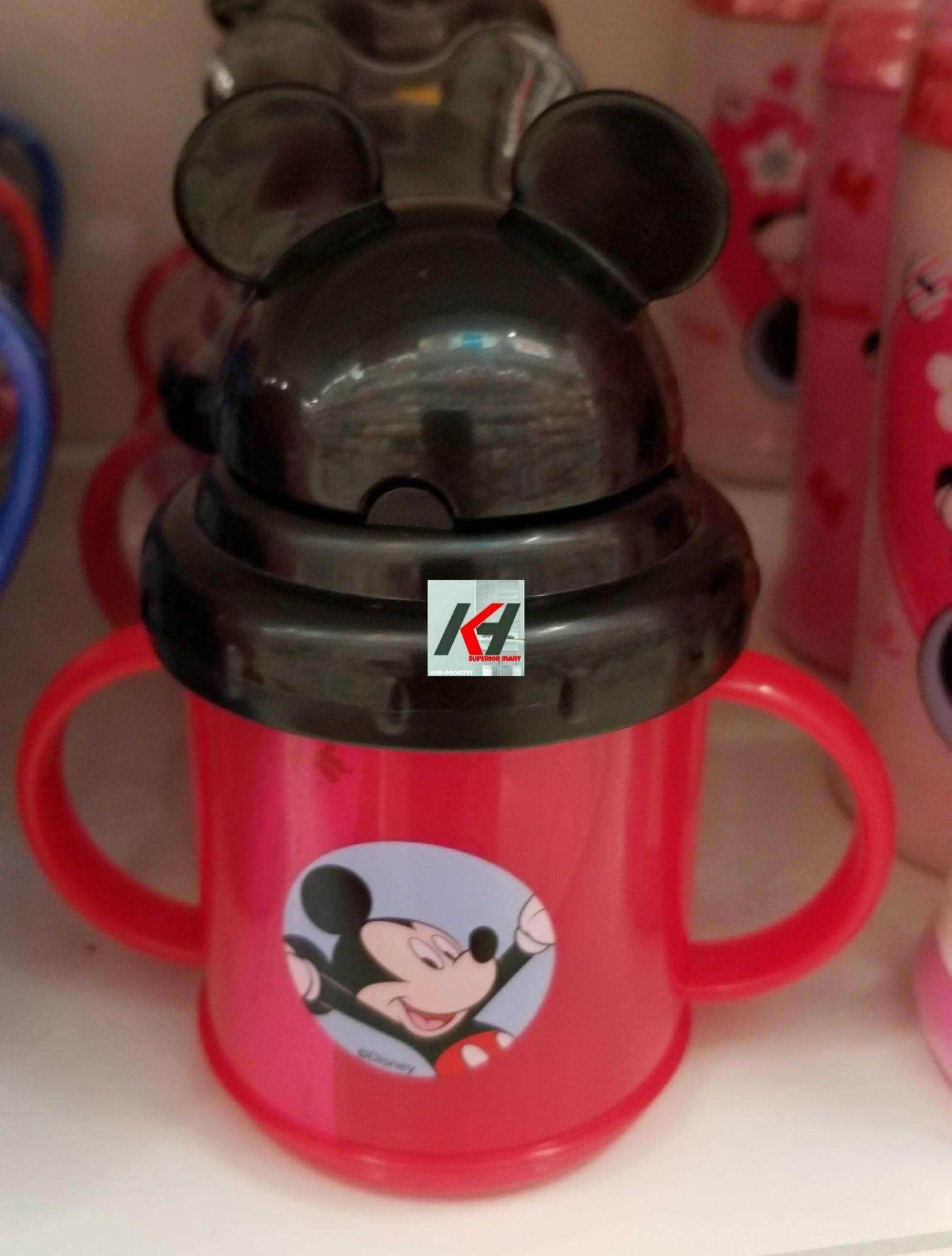 DISNEY MICKEY DRINKING CUP FLIP TOP STRAW READY STOCK
