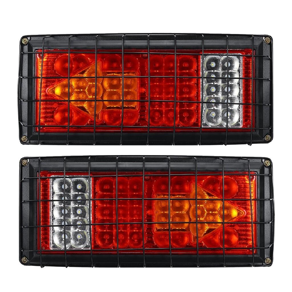 Car Lights - 2x 24V Trailer Lights 43 LED Indicator Lamps Truck Caravan Boat Ute Rear Lights - Replacement Parts