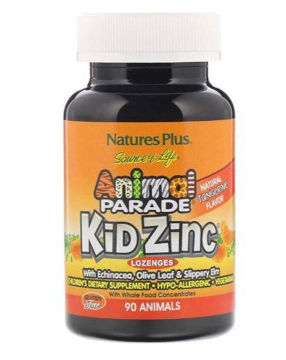 Nature's Plus, Source of Life, Animal Parade, Kid Zinc Lozenges, 90 Animal-Shaped Lozenges