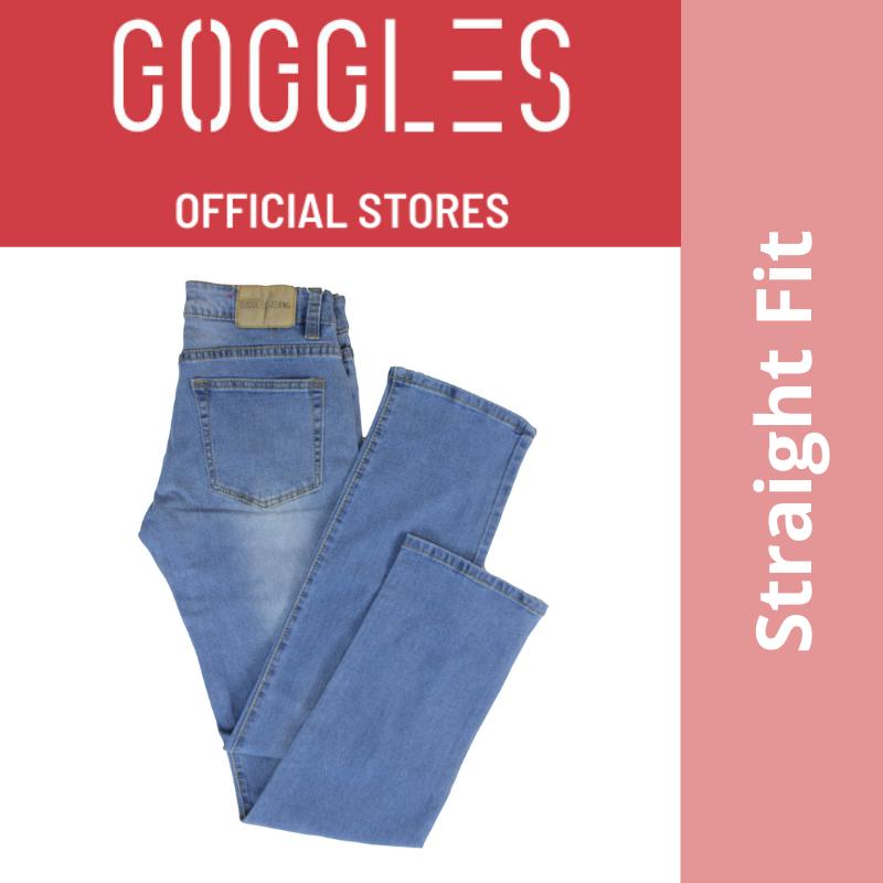 GOGGLES Ladies Denim Women Jeans Straight Fit Light Blue 100336