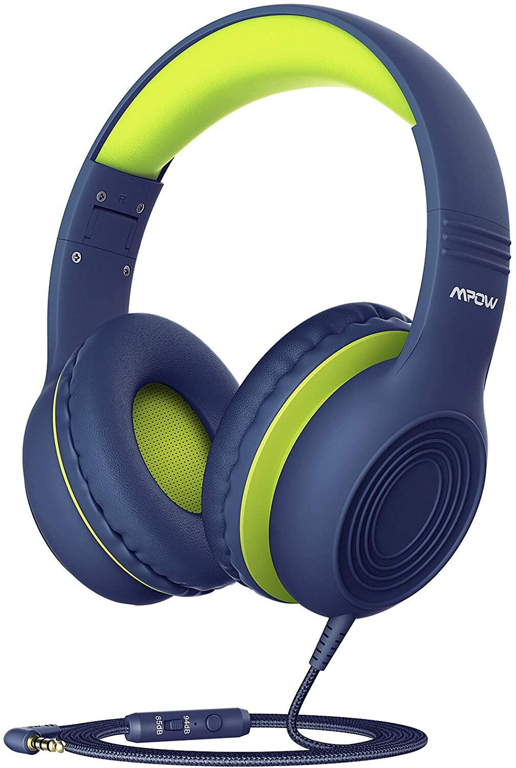 [ NEW ARRIVAL ] Mpow CH6S Kids Headphones with Microphone Over Ear, On Ear Headphones for Kids with HD Sound Sharing Function for Children Boys Girls, Volume Limit Safe 85dB,94dB Headset for School, Travel