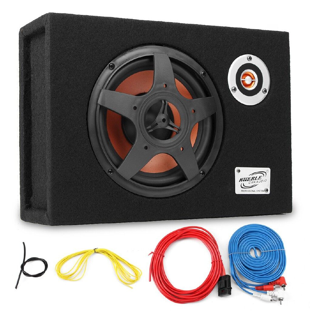 Mobile Cable & Chargers - Under-Seat Active Car Subwoofer Speaker Audio Bass Powered Amplifier
