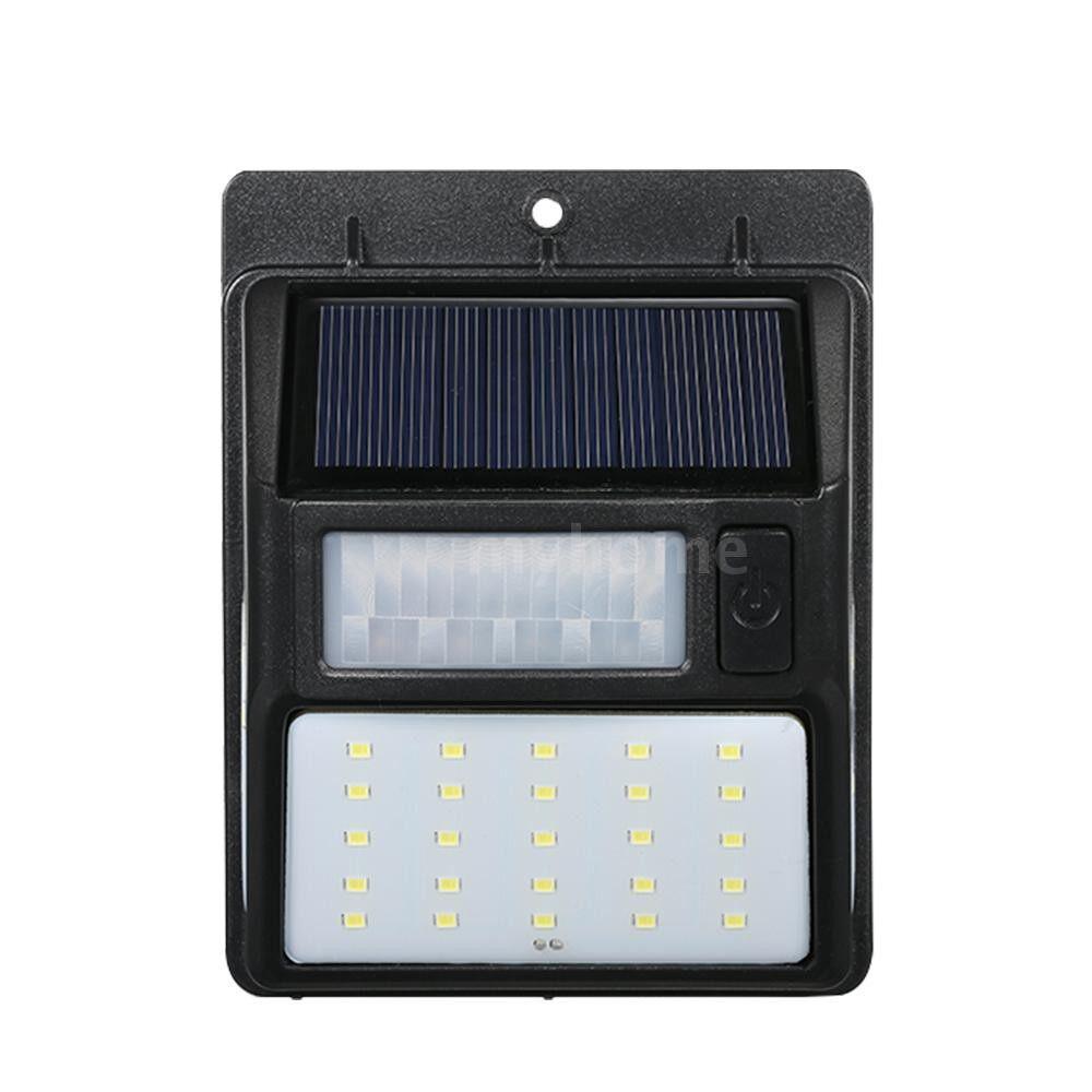 Outdoor Lighting - 1 PIECE(s) Solar Powered Lamp PIR Motion and CDS Night Sensor LED Wall Light for Outdoor Garden - #