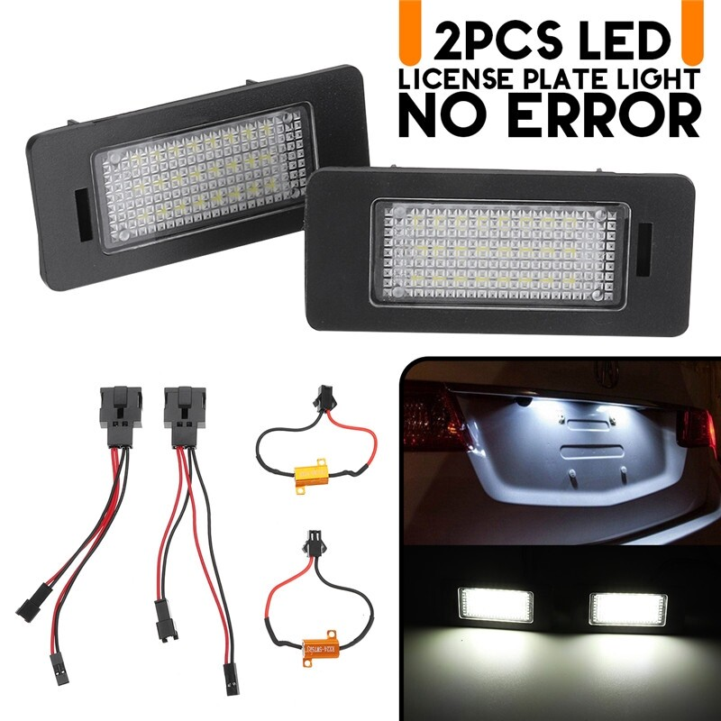 Car Lights - LED License Plate Light Error Free For Audi A1 A5 A6 A7 Volkswagen Jetta Passat - Replacement Parts