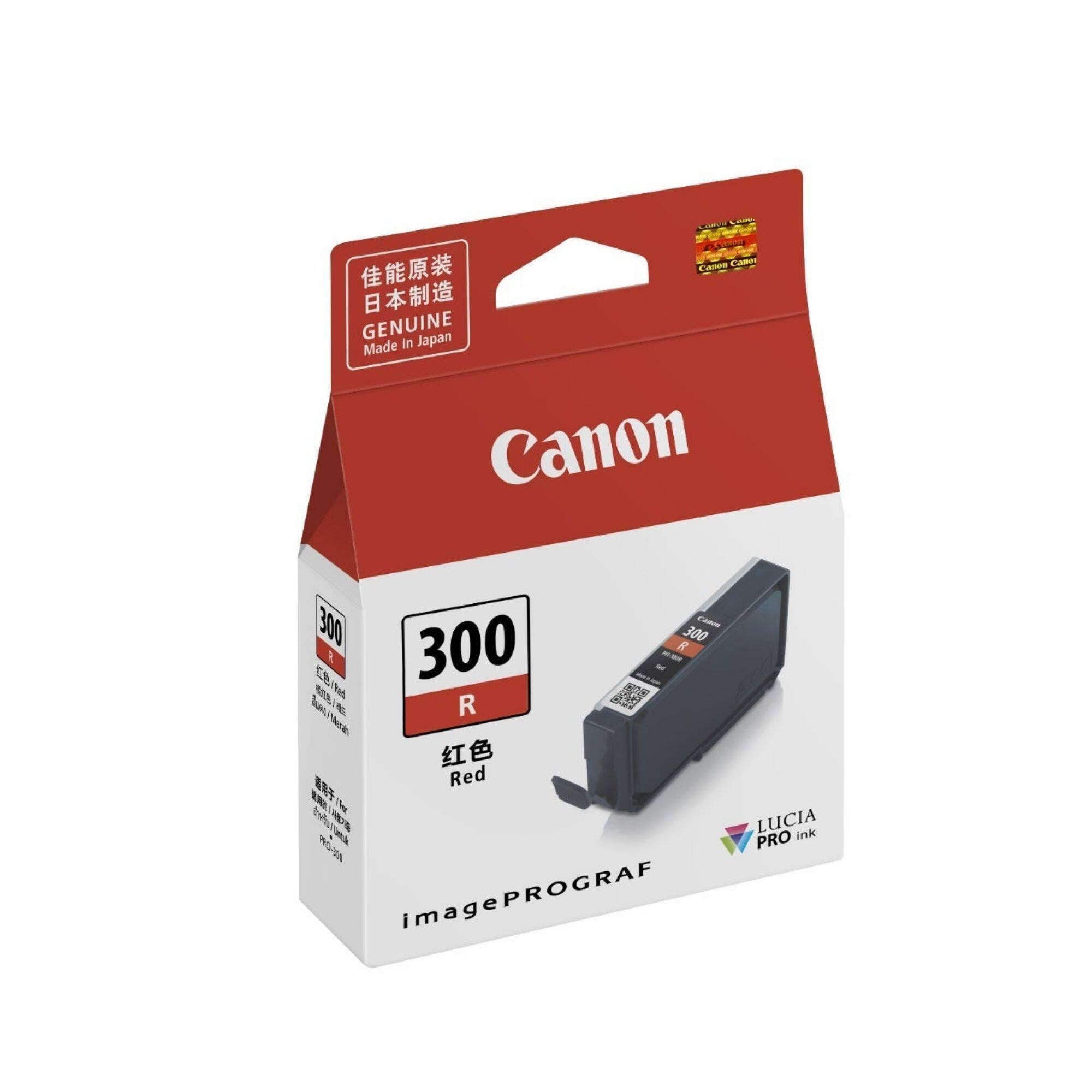 Canon PFI-300 Red Cartridge (14.4 ml) for PRO-300 Printer