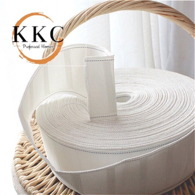 KKC (Open Meter) 3.5in Curtain Tape/Tape Langsir Sewing Header Tape for French Pleated
