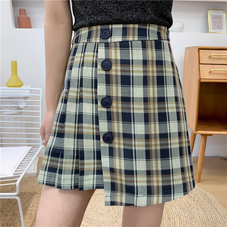 (PRE ORDER) WOMEN SPRING AND SUMMER KOREAN WILD COLLEGE STYLE SKIRT