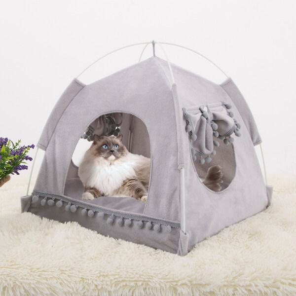 Ổ Cho Thú Cưng Đệm Giường Mềm Ấm Áp Cho Chó Mèo Đệm Cho Chó Con Nhà Cũi Thú Cưng S-XL