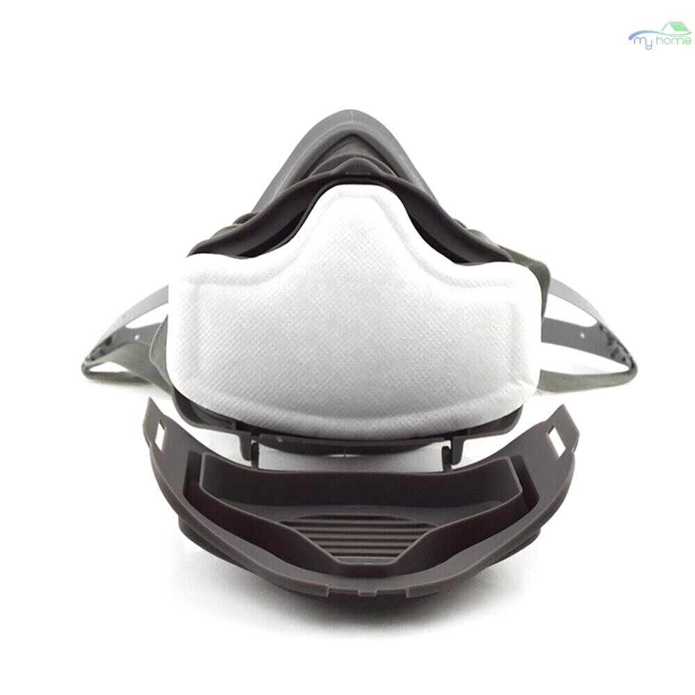 Protective Clothing & Equipment - Gas Mask Anti Dust Respirator Filter Chemical Anti-dust Masks Industrial Paint Spraying - #