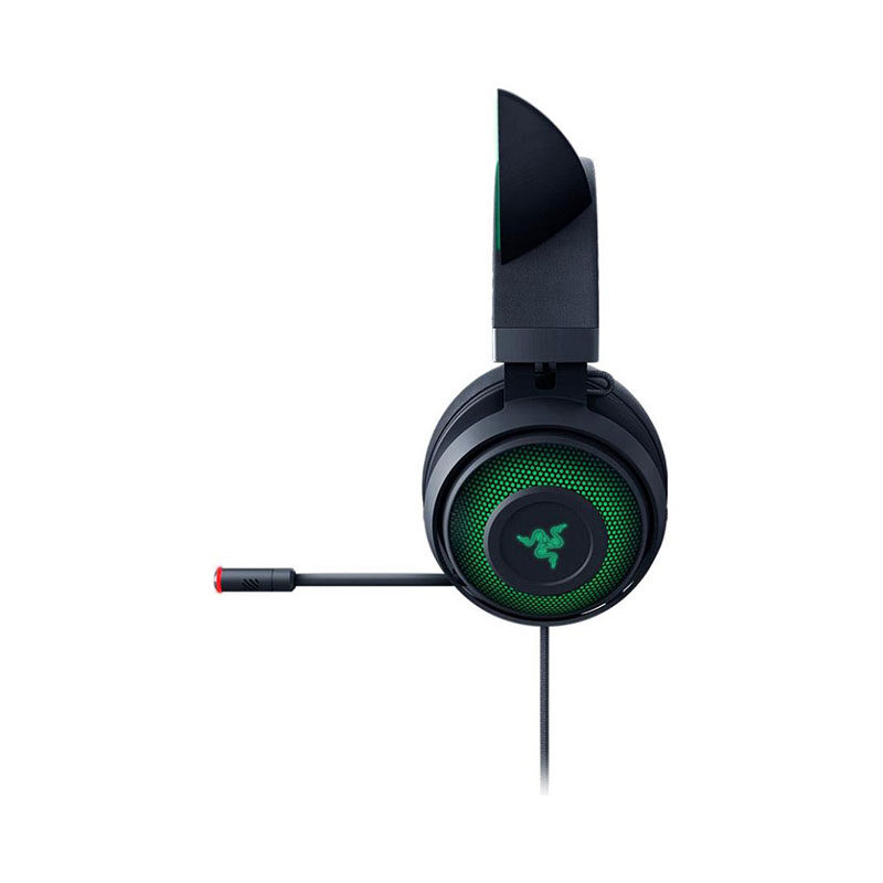 Razer Kraken Kitty Chroma Wired USB Gaming Headset (RZ04-02980100-R3M1), Black, THX Spatial Audio, Cooling-Gel Ear Cushions, Light, Durable Build, Active Noise-Cancelling Microphone