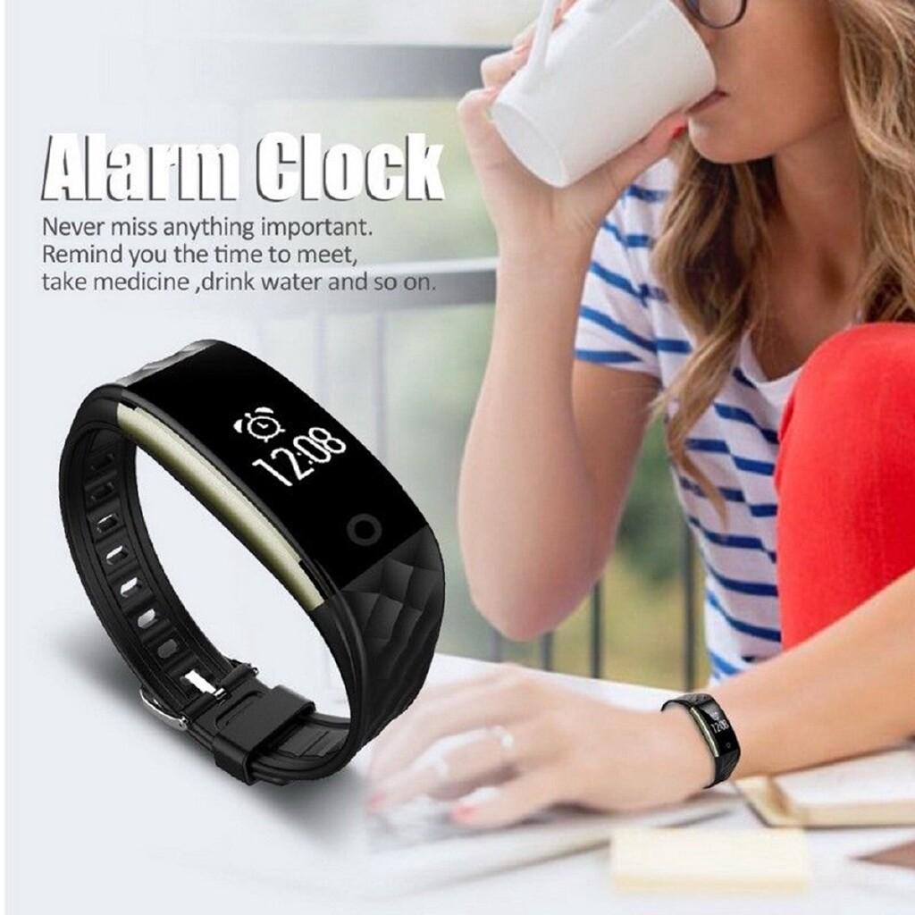Smart Watch - W+1 S2 IP67 S2 Heart Rate Smart Bracelet Watch Wristband Sport Fitness - BLACK / RED / WHITE