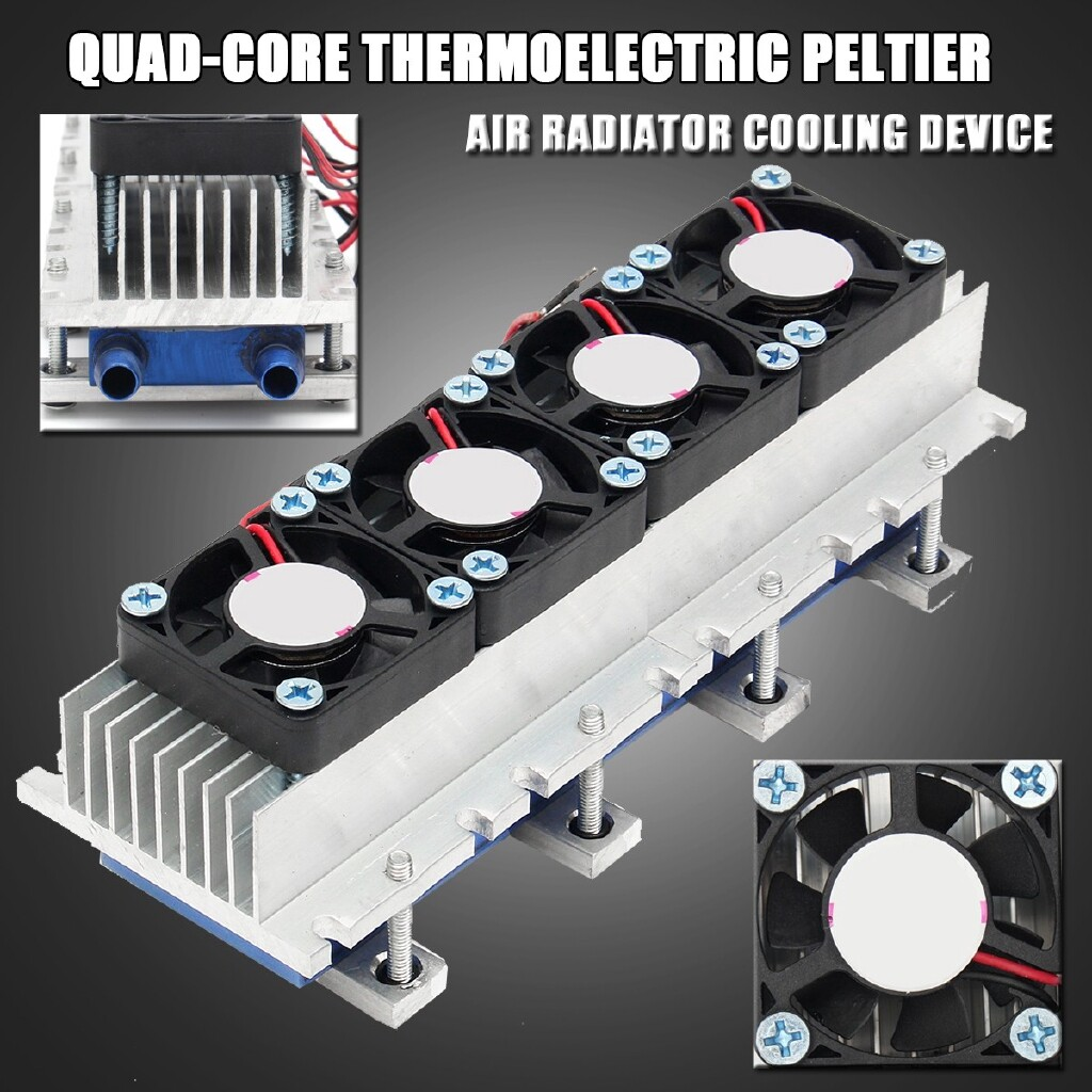 DIY Tools - Quad-core 4xTEC1-12706 Thermoelectric Peltier Air Refrigeration - Home Improvement