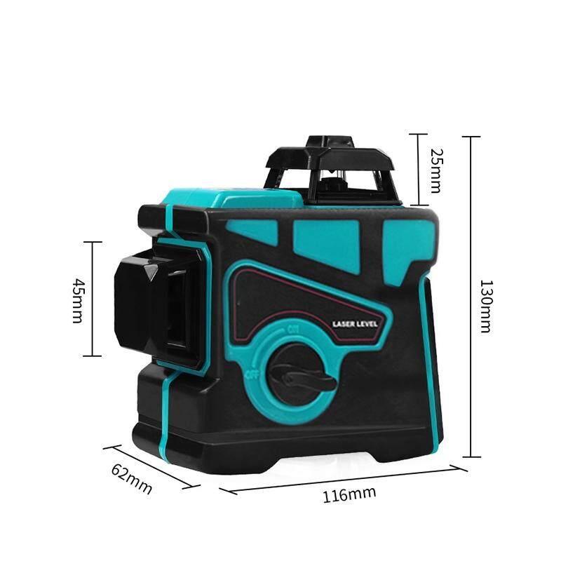 DIY Tools - 12 Lines 360 Waterproof Self Leveling Green 3D Laser Level Outdoor Measure Kit - Home Improvement