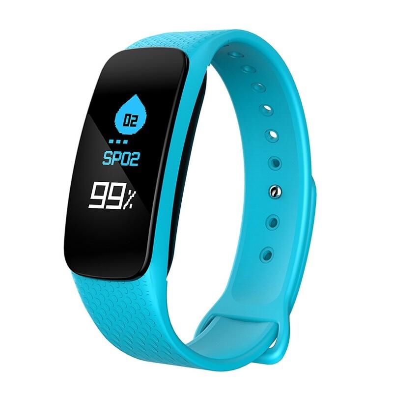 Smart Watch - XANES L6 0.96'' Color Screen IP67 Waterproof Smart Bracelet Heart - RED / SKY BLUE / BLUE / GREEN / BLACK