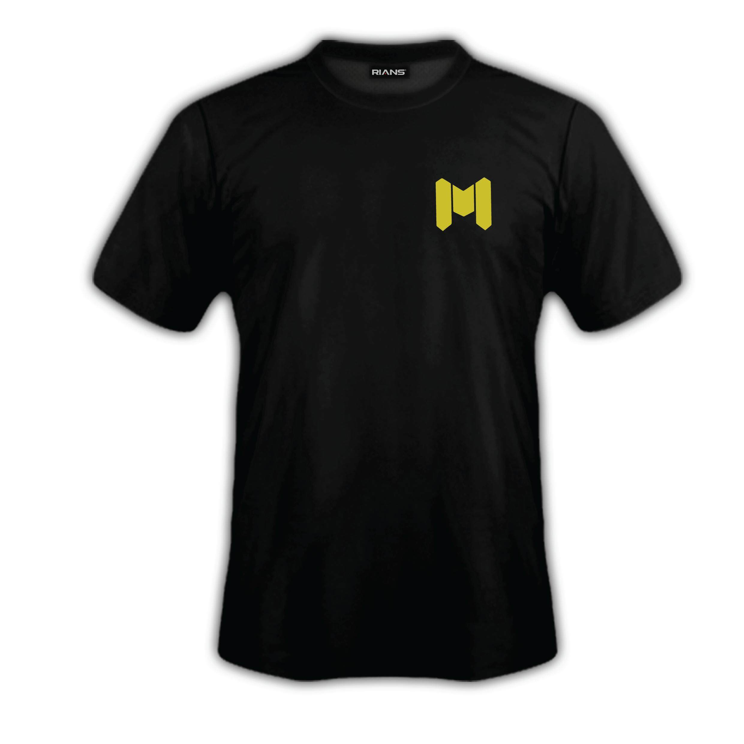 T-Shirt CALL OF DUTY MOBILE Left Yellow M Logo Short Sleeve 100% Cotton Baju Tshirt Black White Hitam Putih Bossku