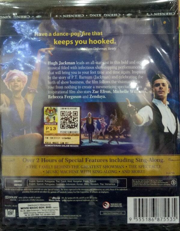 English Movie The Greatest Showman Blu-ray
