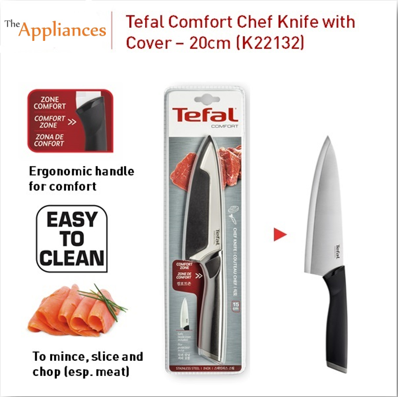 Tefal Comfort Chef Knife With Cover (20cm)