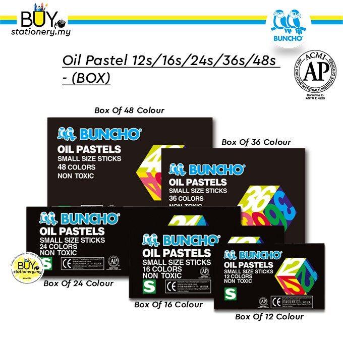 Buncho Oil Pastel/ Crayon-12s/16s/24s/36s/48s - (BOX)