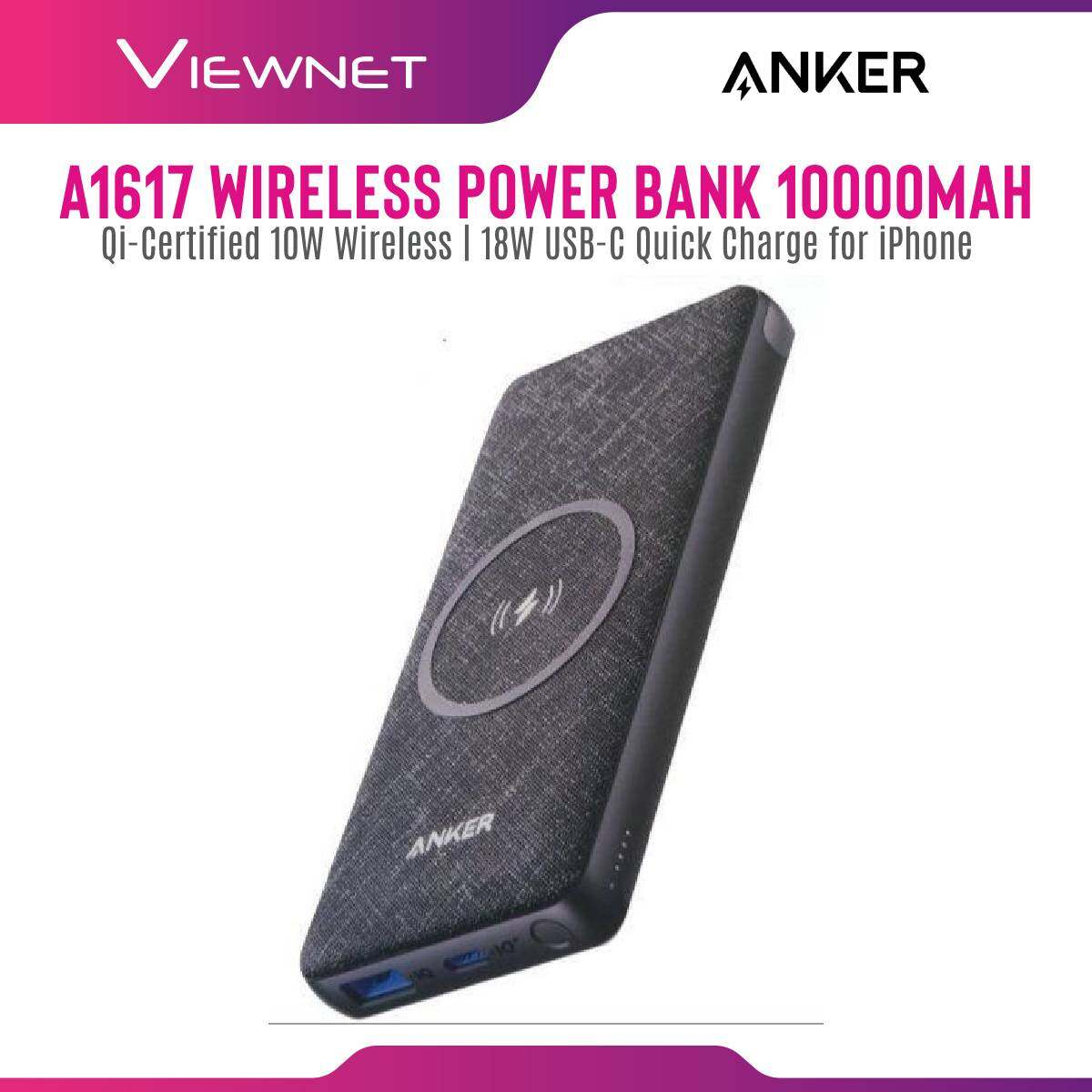 Anker A1617 PowerCore III 10K Wireless Power Bank  with Qi-Certified 10W Wireless and 18W USB-C Quick Charge for iPhone