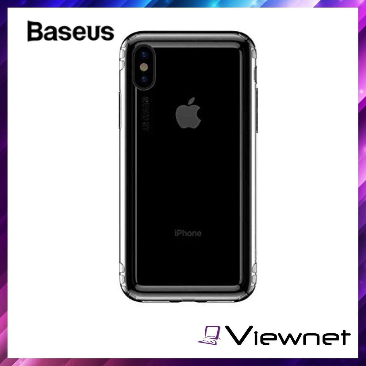 Baseus Safety Airbags Case For iPhone XS Max (ARAPIPH65-SF02), Drop Resistance, Anti-knock Design, Dirt-Resistant, Transparent