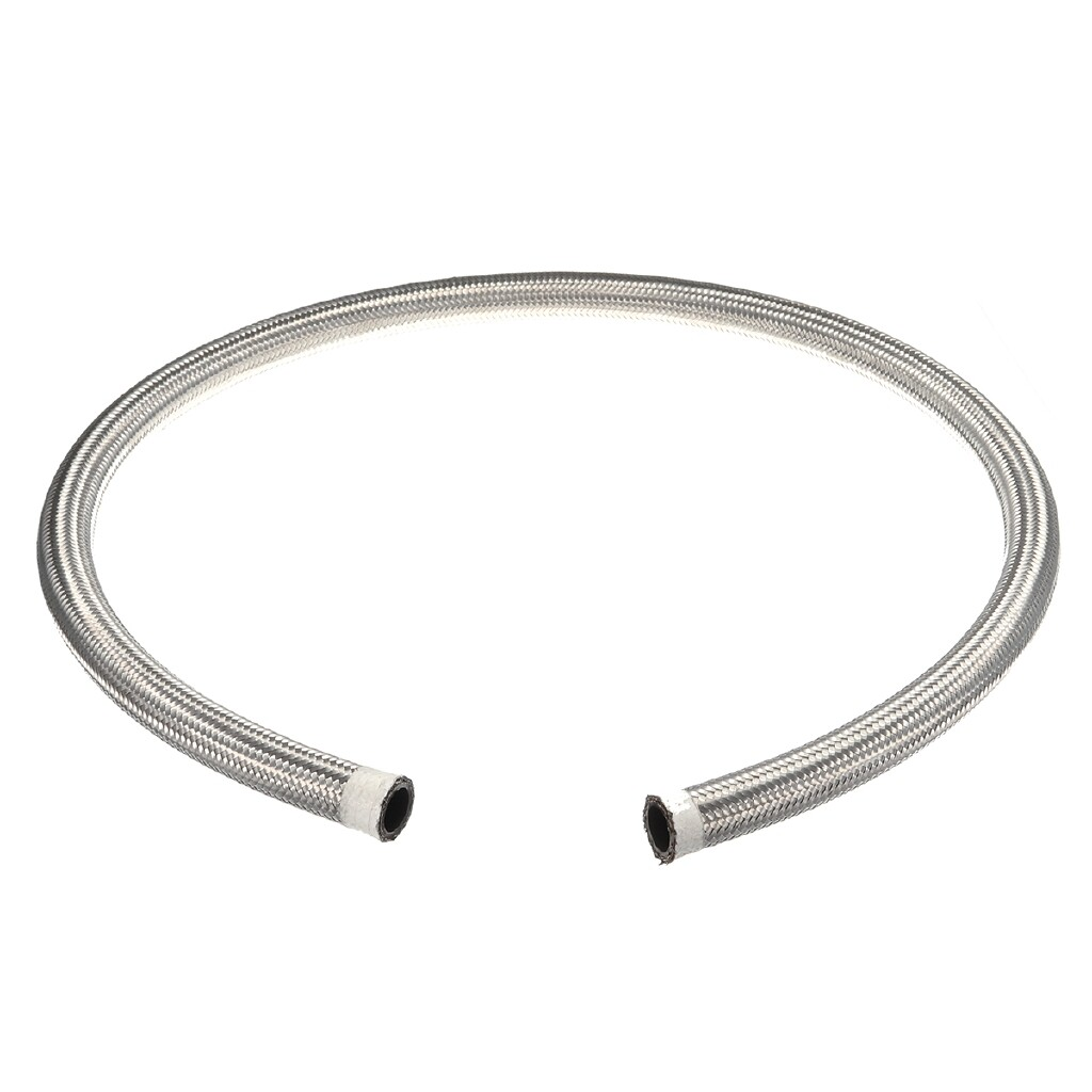 Exhaust - Nylon Stainless Steel Braided Pipe Oil Fuel Coolant Hose AN10 14.3mm (9/16'') 1M - Car Replacement Parts