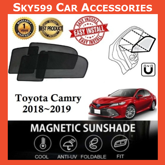 Toyota Camry 2018-2020 Magnetic Sunshade [4 PCS]