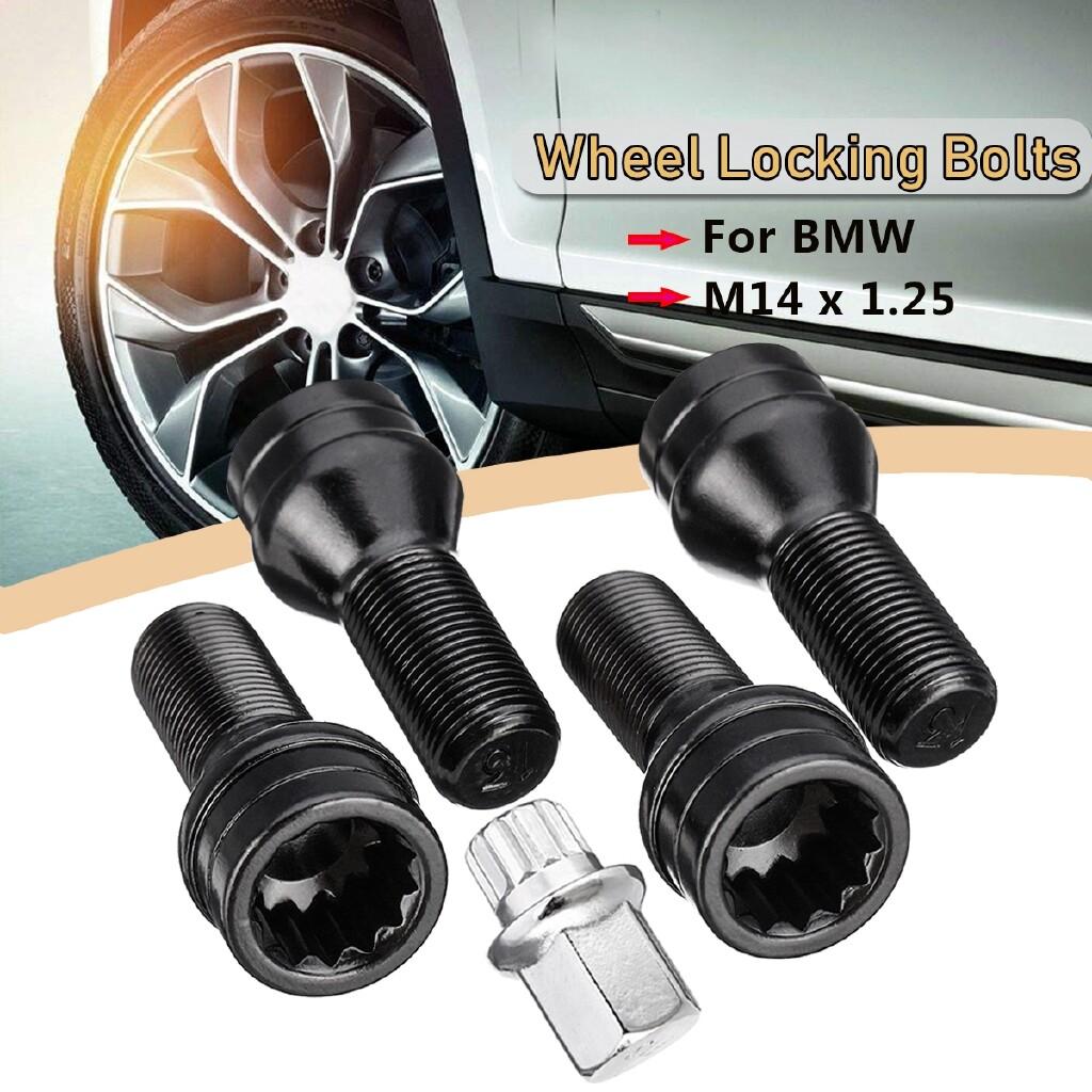 Automotive Tools & Equipment - Car Wheel Locking Bolts Lug Nut M14 x 1.25 + Key For BMW MINI R50 R52 R53 - Car Replacement Parts