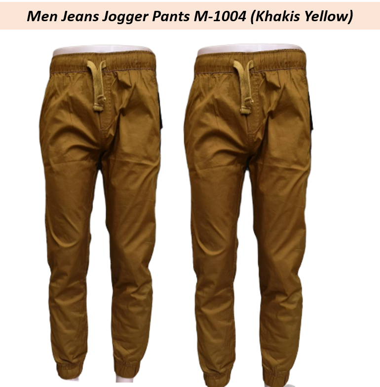 Ready Stock - Korean Style Men Jeans Jogger Pant Collection- M-1004 (Khakis Yellow) Khakis Yellow