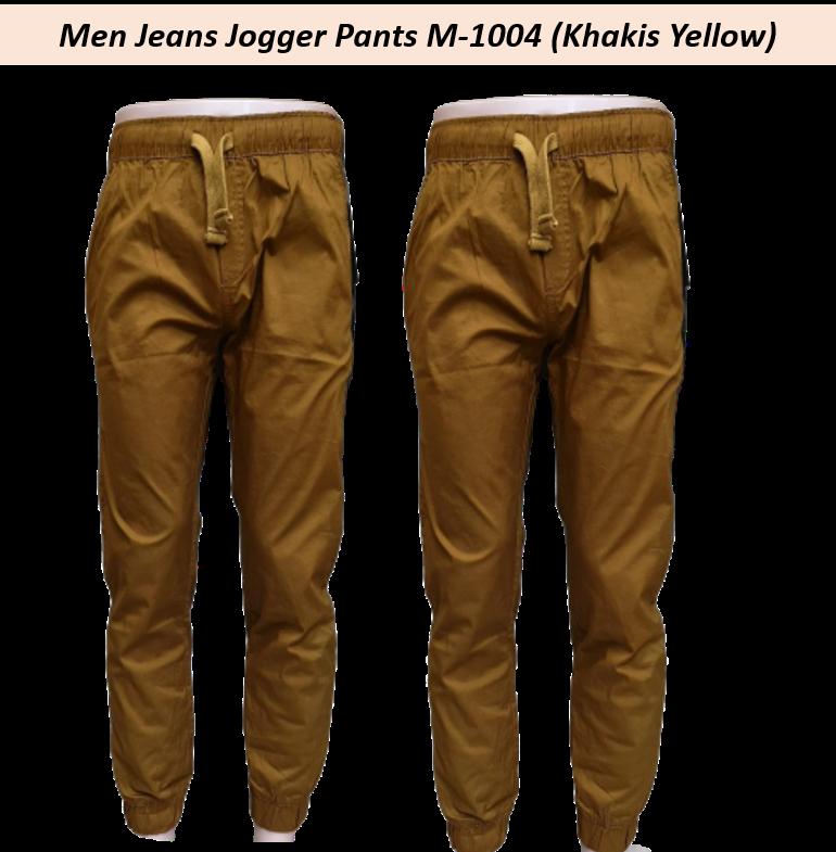 Ready Stock - Korean Style Men Jeans Jogger Pant Collection- M-1004 (Khakis Yellow)